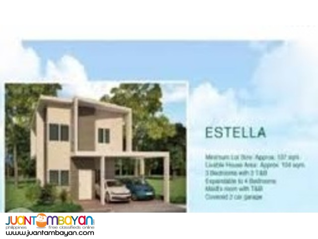 Estella Single Detached House in Soluna Residences in Molino Blvd