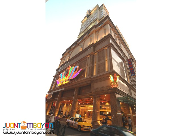 Macau Tour Package - 5 Star Taipa Hotel 3 Days 2 Nights