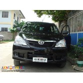7 seater Toyota Avanza for Rent CEBU (900)