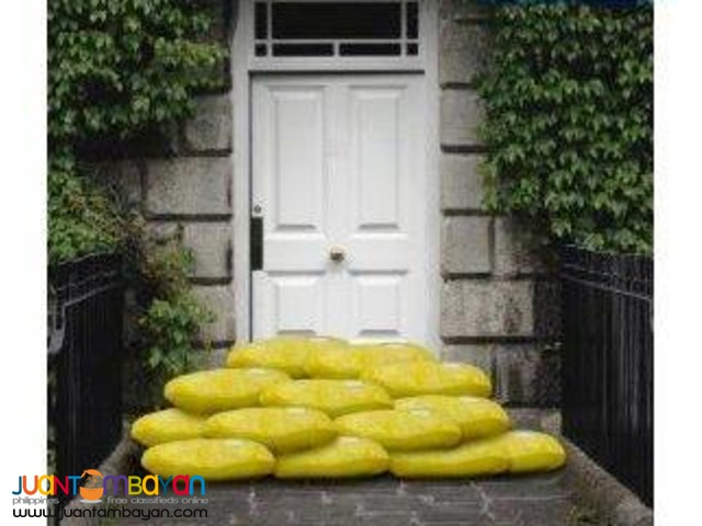Sandless Sand Bag to Protect against Floodwaters