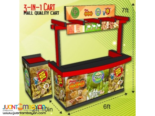Food Cart Combination (3-in-1 or 2-in-1) Packages