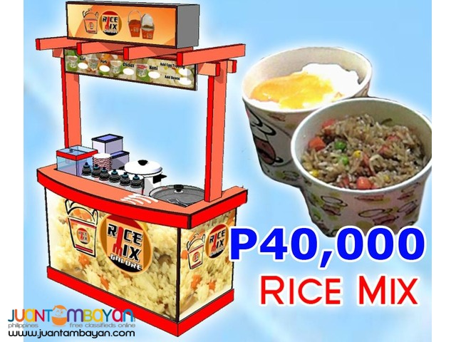 Rice Mix Toppings Business (Cart, Kiosk or Business Kit only)