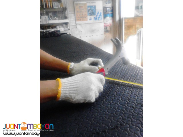 Gloves, Semi Rough Rubberized Coated and Plain Cotton types