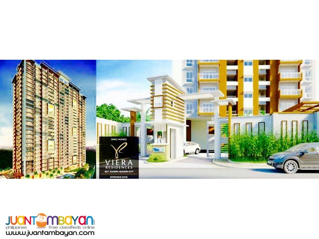 Condo units for sale in Scout Tuazon Viera Residences Pre Selling