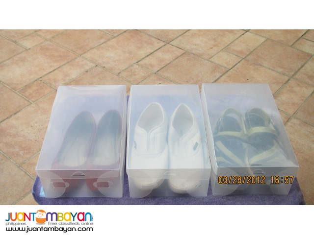 Clear Plastic ladies Shoe Box