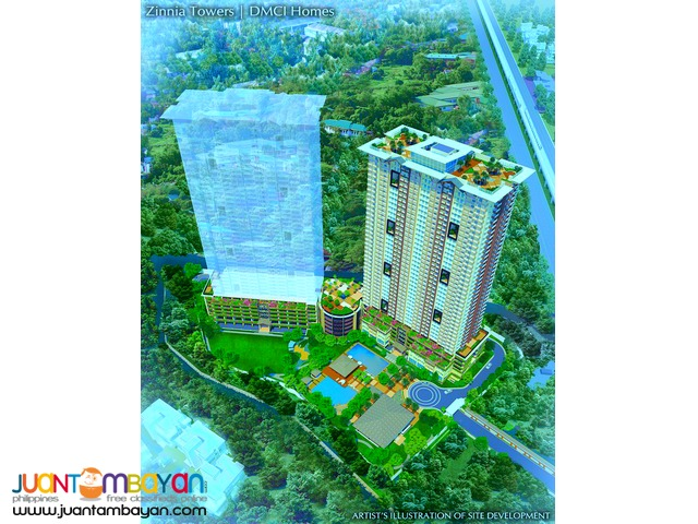 Pre Selling Zinnia Towers by DMCI Homes in Munoz
