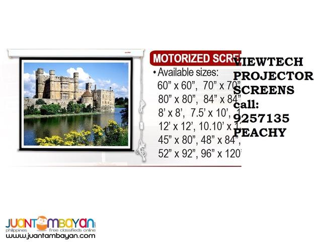 Viewtech Projector Screens ,Tripod,Motorized,Wall