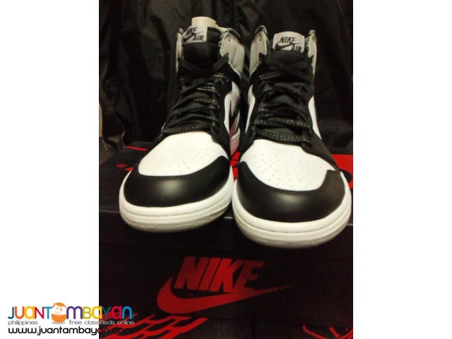 Genuine Air Jordan 1 Barons Basketball Shoes