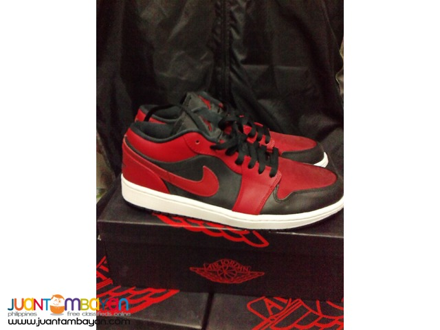 Genuine Air Jordan 1 Bred Low Basketball Shoes