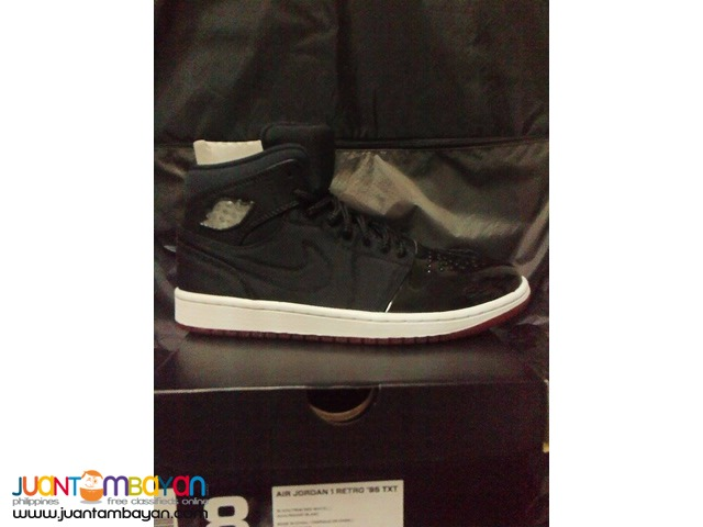 Genuine Air Jordan 1 TXT Breds Basketball Shoes