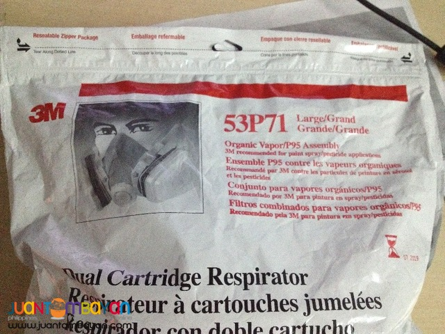 3M 53P71 Large Dual Cartridge OV,P95 Respirator Assembly