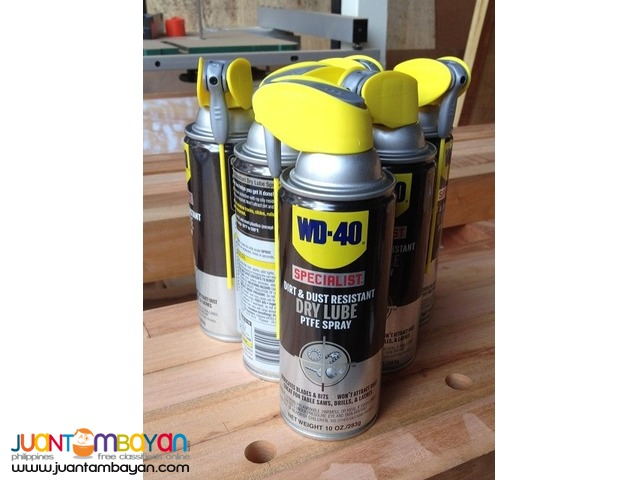 WD-40 Specialist Dirt and Dust Resistant Dry Lube PTFE Spray