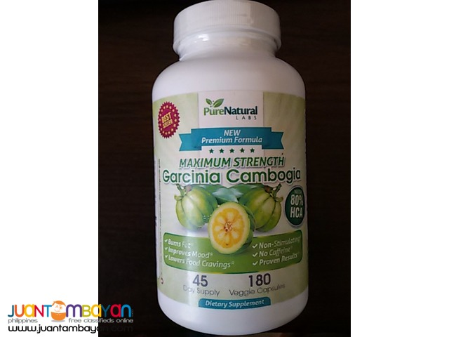 Garcinia Cambogia 180ct 80%HCA 45 day-60 day supple highest Rated