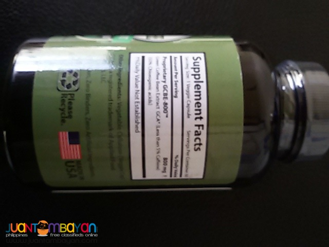 Green Coffee Bean 800mg 50%GCA by Health Trendz