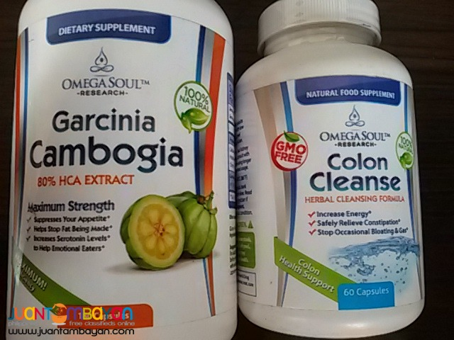Garcinia Cambogia 180ct 80%HCA & Cleanse 60cts By OmegaSoul