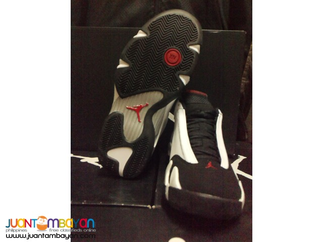 Genuine Air Jordan 14 Blacktoe Basketball Shoes