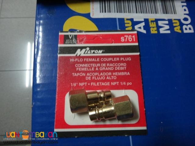 Milton Hi-Flo V-Style FNPT Brass Plugs (2 pcs )