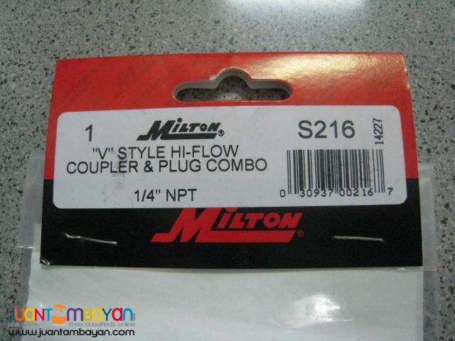 Milton S-216 V-Style Hi-Flow Coupler Kit