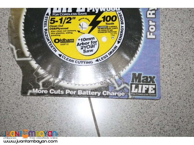 Oldham 5-12-Inch 100T Steel Saw Blade w 10mm Arbor Hole