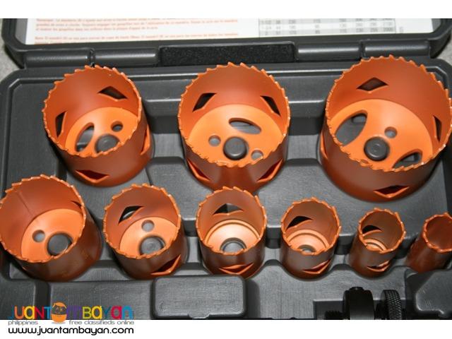RIDGID 13 pc. Bi-Metal Hole Saw Set Cobalt Industrial Grade Steel
