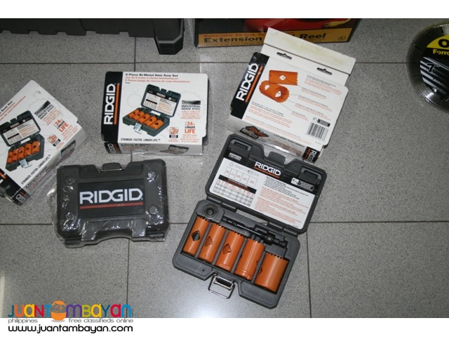 RIDGID 6 pc. Bi-Metal Hole Saw Set Cobalt Industrial Grade Steel