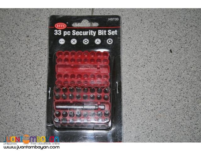 SE 33 piece Security Bit Set