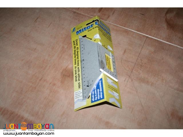 Shinwa Jap Aluminum Layout Miter Square Double 45 degree Sides