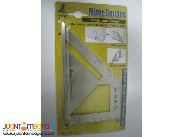 Shinwa Stainless Steel Miter Square