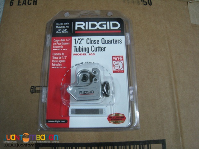Tubing Cutter Ridgid Model 103 Close Quarters
