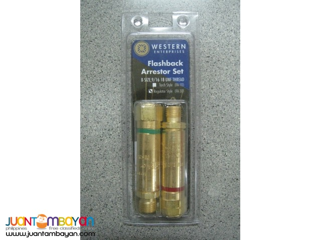 Western Enterprises FA30 Regulator Style Flashback Arrestor Set