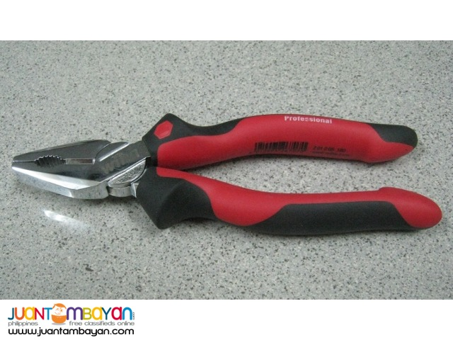 Wiha 6.3 Inches Ergo Soft Grip Industrial Combination Pliers