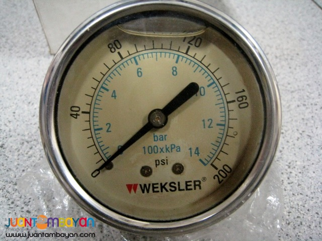 Weksler Gauge, Liquid-Filled, 2-12