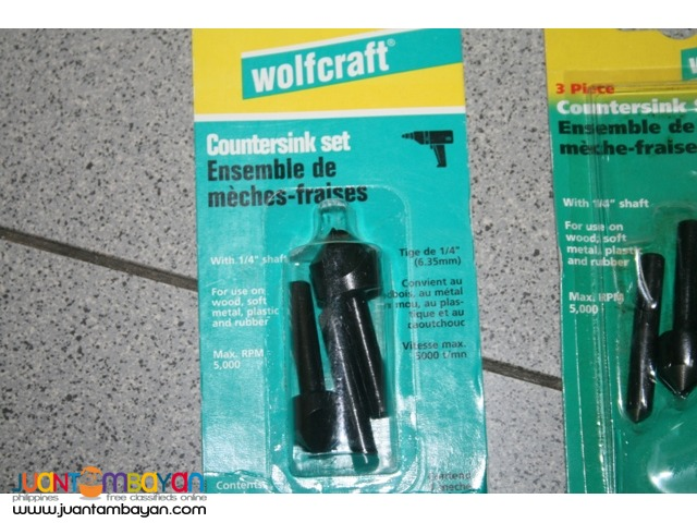 Wolfcraft Counter Sink Set - Made in Germany