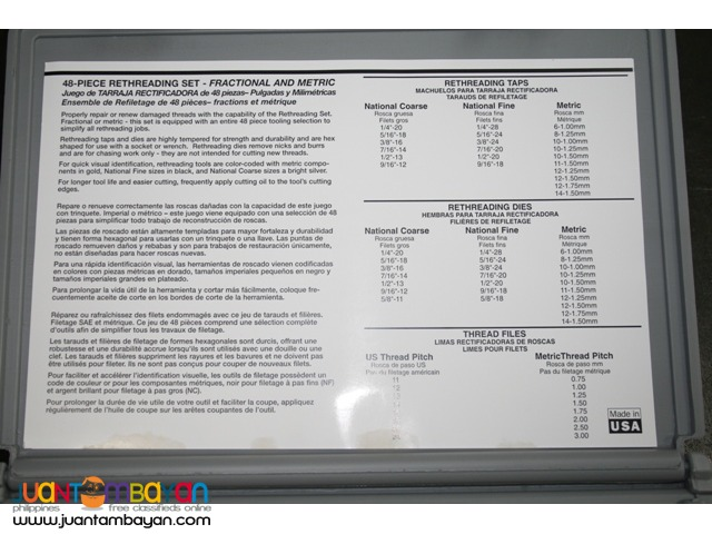 A&E Lang Tools SAE and Metric Thread Restorer Kit - USA