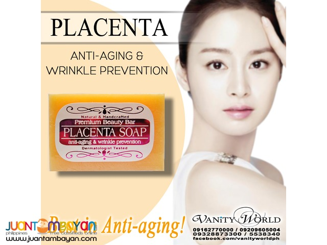 PLACENTA SOAP Anti-aging & Wrinkle Prevention