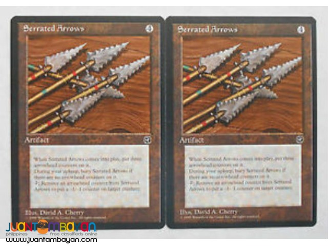 Serrated Arrows (Magic the Gathering Trading Card Game)