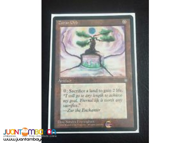 Zuran Orb (Magic the Gathering Trading Card Game)