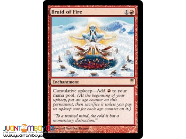 Braid of Fire (Magic the Gathering Trading Card Game)