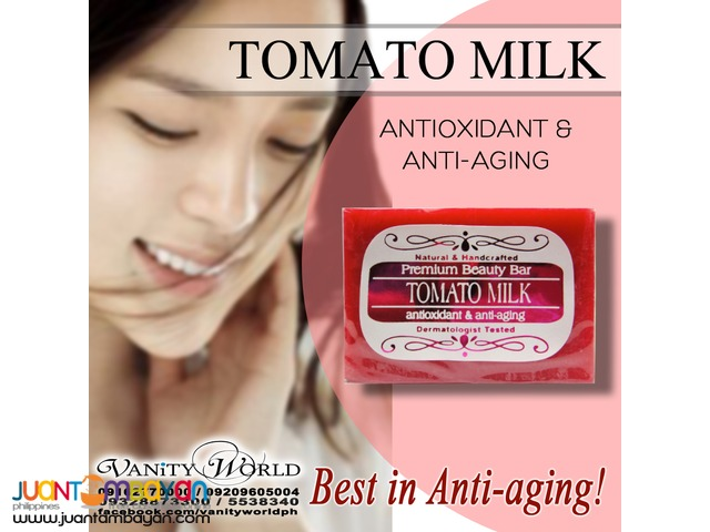 TOMATO MILK SOAP Anti-aging and Antioxidant