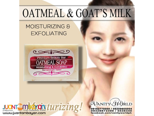 OATMEAL & GOATS MILK SOAP Moisturizing and Exfoliating