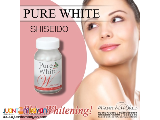 SHISEIDO PURE WHITE W Premium Whitening supplement from Japan