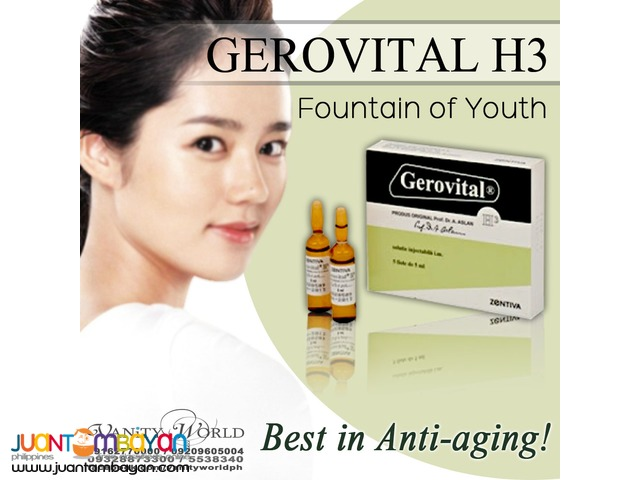 "GEROVITAL H3 ""World acclaimed as the Fountain of youth"" from Romania"