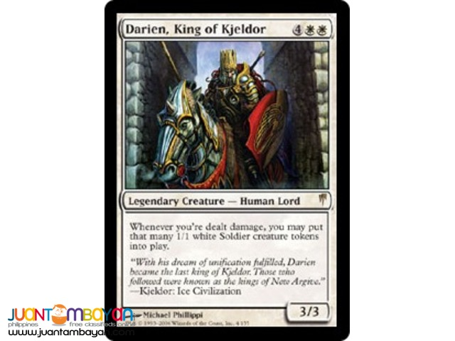 Darien, King of Kjeldor (Magic the Gathering Trading Card Game)