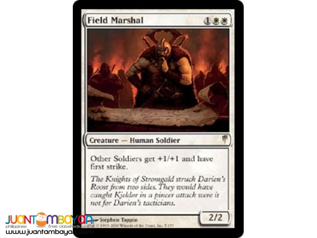 Field Marshal (Magic the Gathering Trading Card Game)