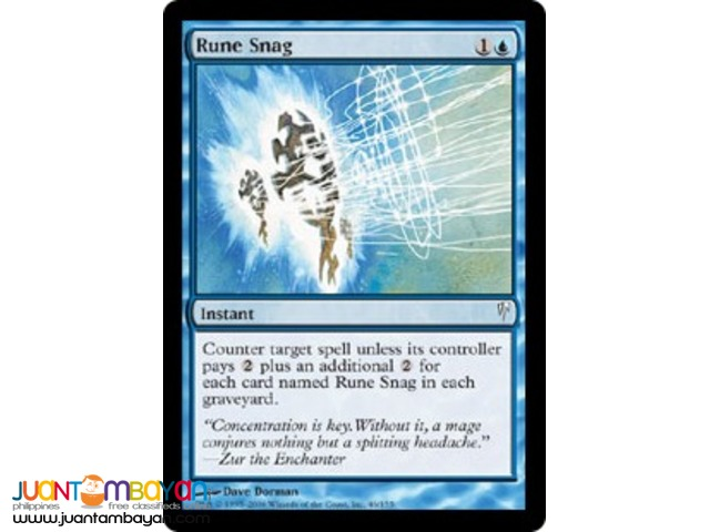 Rune Snag (Magic the Gathering Trading Card Game)