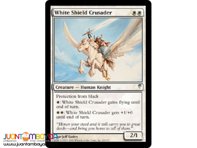 White Shield Crusader (Magic the Gathering Trading Card Game)