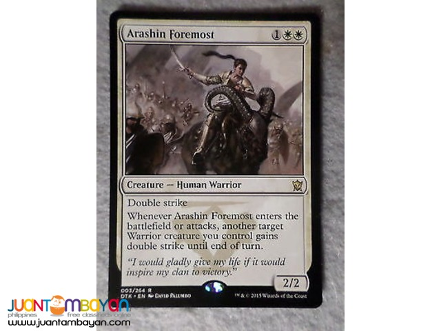 Arashin Foremost (Magic the Gathering Trading Card Game)