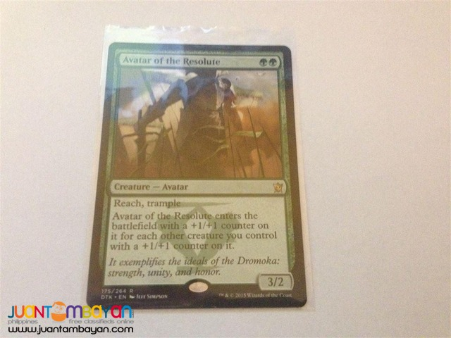 Avatar of the Resolute (Magic the Gathering Trading Card Game)