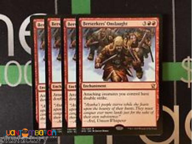 Berserkers' Onslaught (Magic the Gathering Trading Card Game)