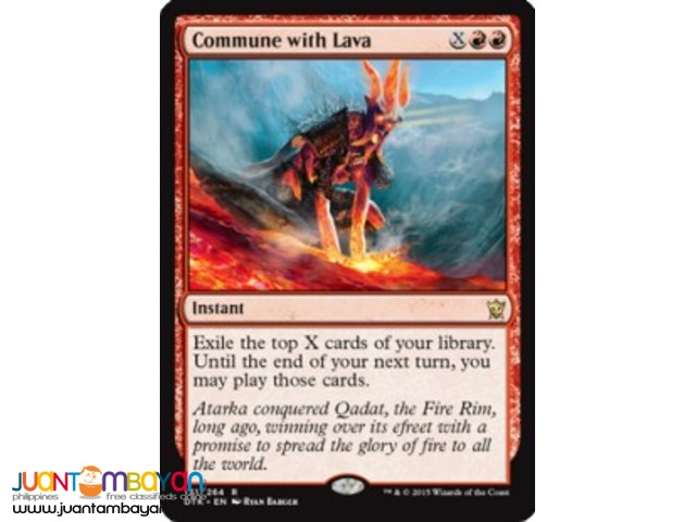 Commune with Lava (Magic the Gathering Trading Card Game)